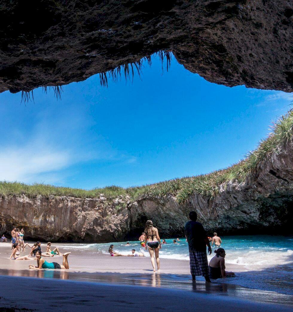 Den här dolda stranden i Mexiko är vad semesterdrömmar är gjorda av