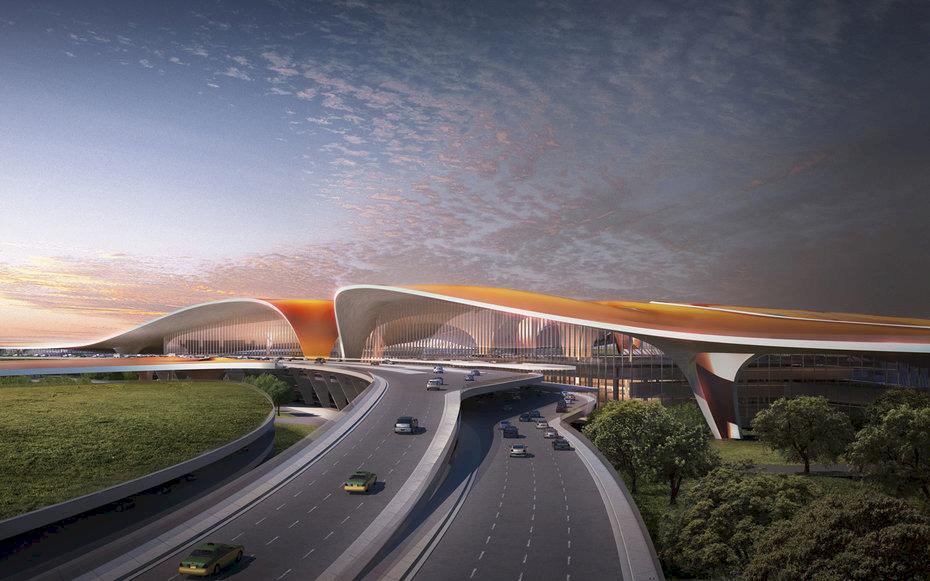 Här öppnar världens största flygplats