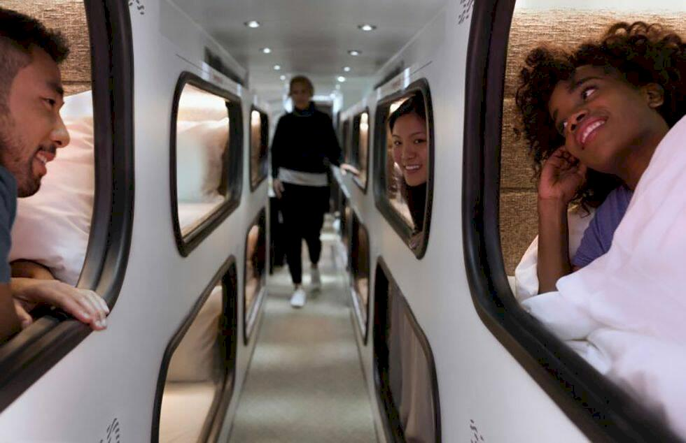 Nya sovbussen – som ett lyxhotell på hjul