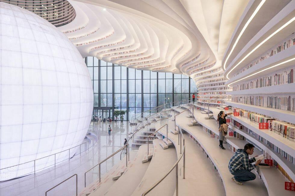 Nyöppnade biblioteket i Kina – ett paradis för boknördar