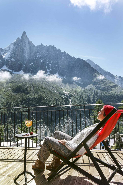 Rustikt bergshotell i franska alperna