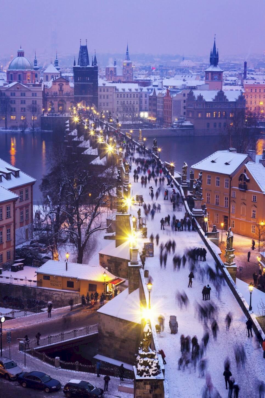 Därför ska du resa till Prag pÙ� vintern