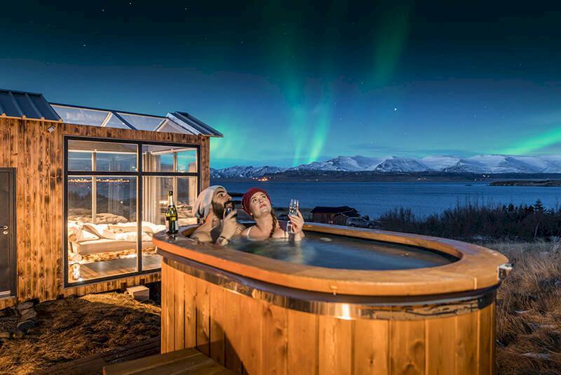 Lyxig övernattning i Isländska vildmarken