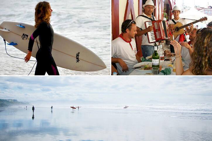 Frankrike - strand och stad i Biarritz