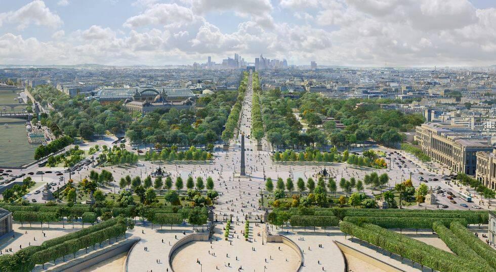 Paris huvudgata Champs-Élysées får grönområden