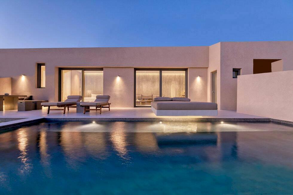 Sov under stjärnorna i nytt hotell på Santorini