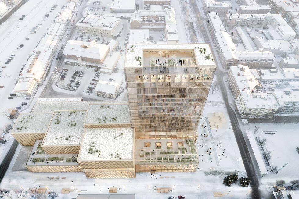 Snart invigs Sveriges högsta trähotell i Skellefteå
