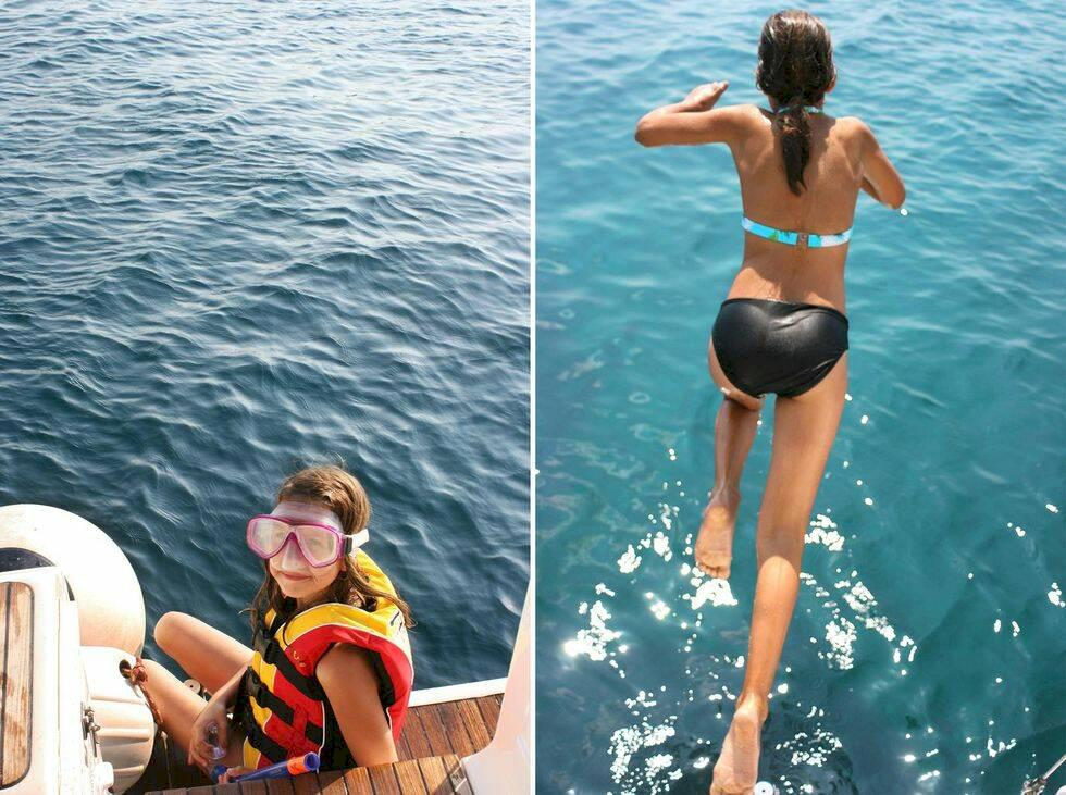 Resa med barn: med småttingar på grekiskt hav