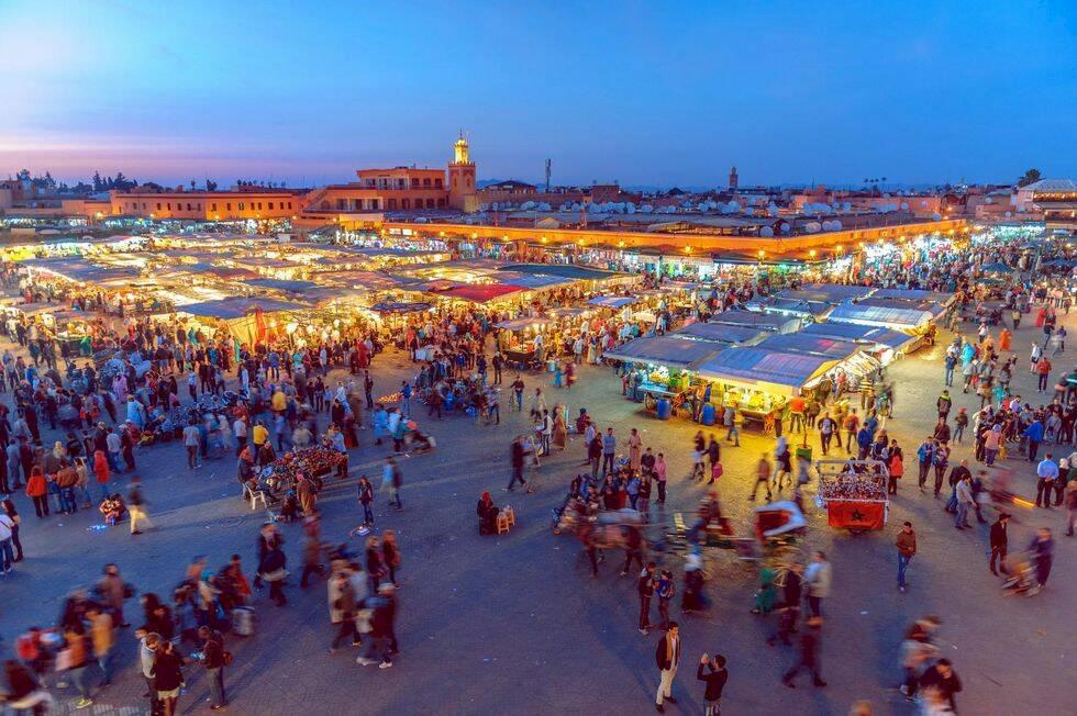 24 timmar i myllrande Marrakech