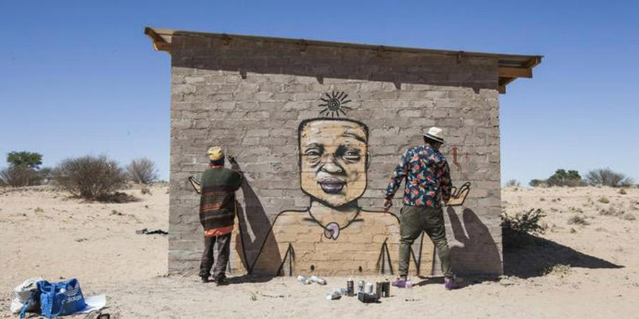 """Han fyller Sydafrikas fattigaste områden med gatukonst: """"Idén är att förvandla byarna till levande gallerier"""""""