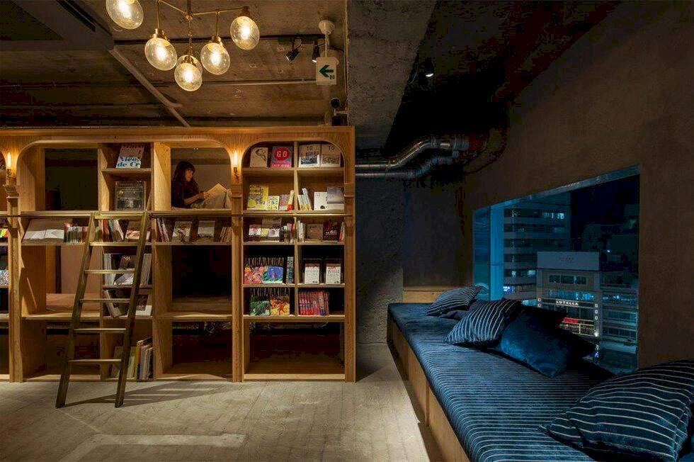 I Tokyo finns varje bokälskares drömhostel