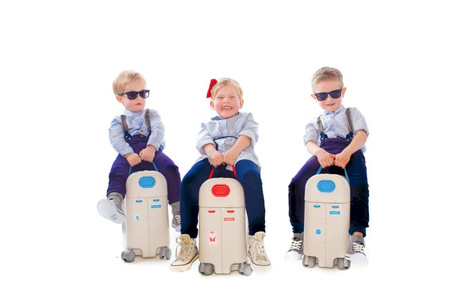 Den här resväskan för barn kan förvandlas till en säng