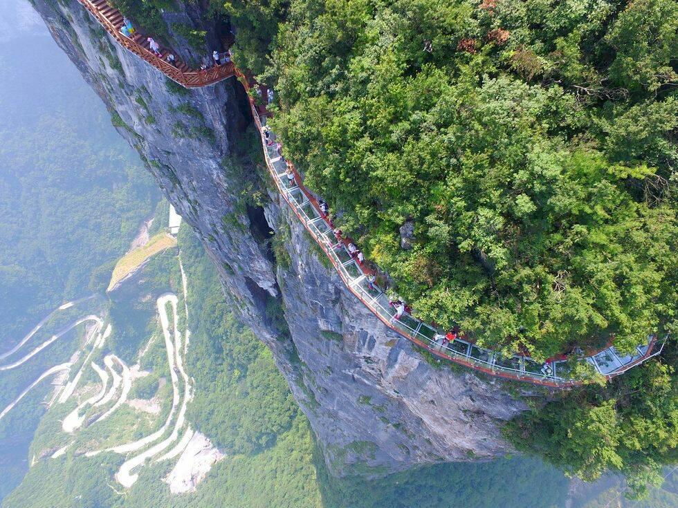 Den här nyöppnade glasvägen i Kina kommer att ge dig galen svindel