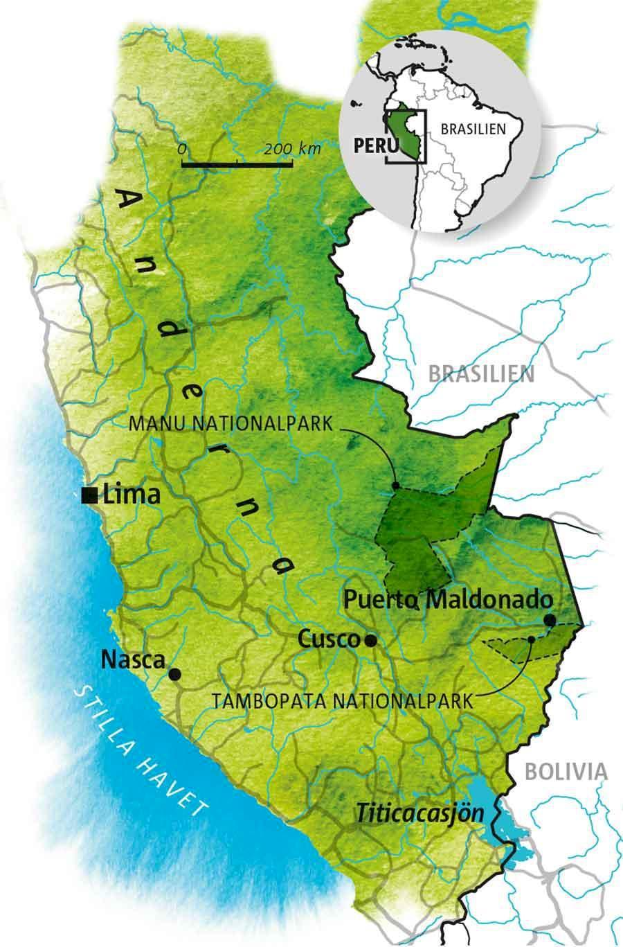 Guide: Sydvästra Peru/Amazonas