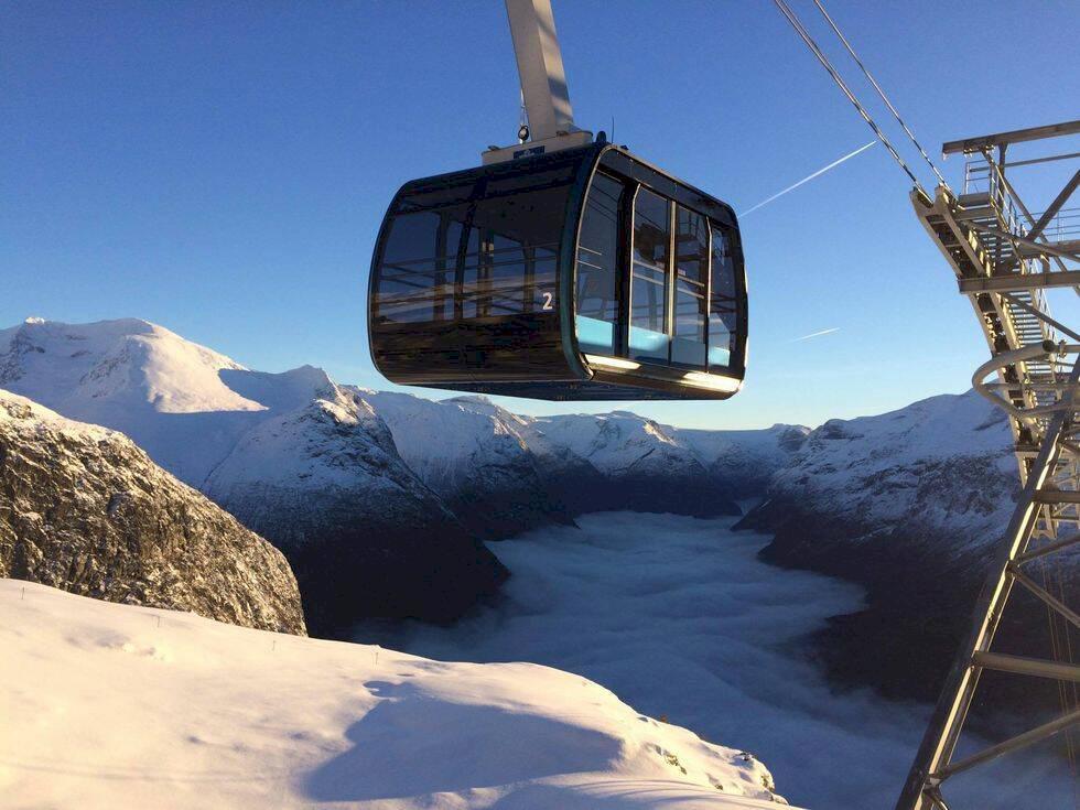 Nya kabinbanan i Norge tar dig från