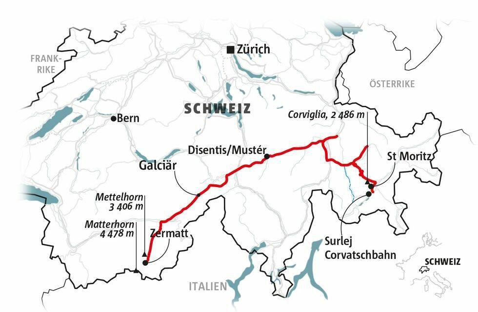 Guide: Vandra i Schweiz