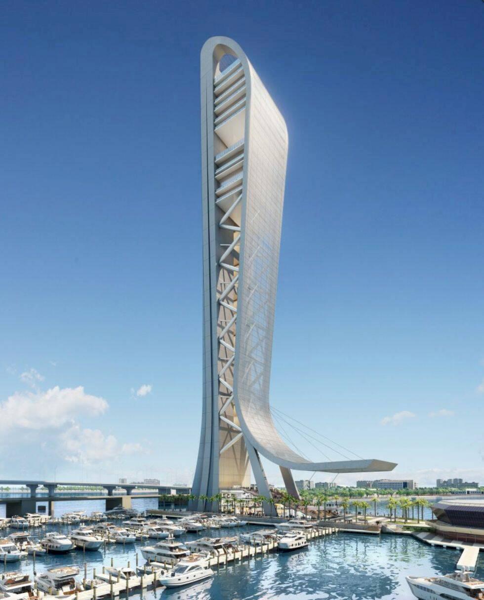 Spana in Miamis nya skyskrapa