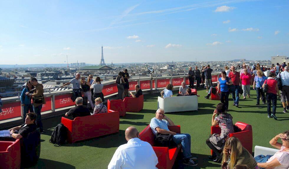 Paris mysigaste utsiktspunkt – ovanpå exklusiva Galeries Lafayette