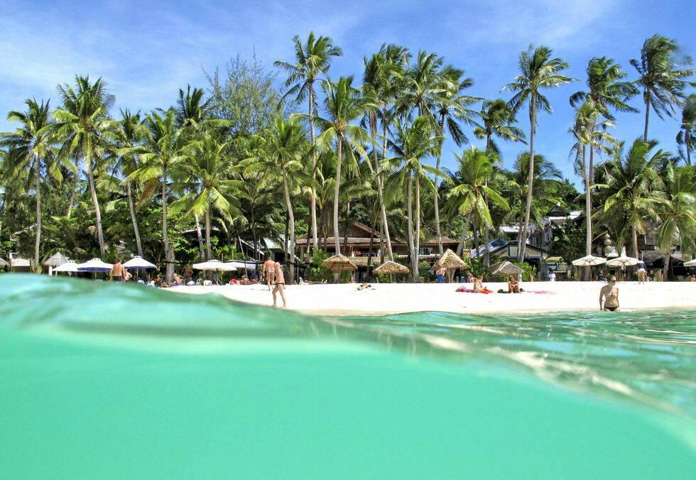 Lata dagar på strandparadiset Boracay i Filippinerna
