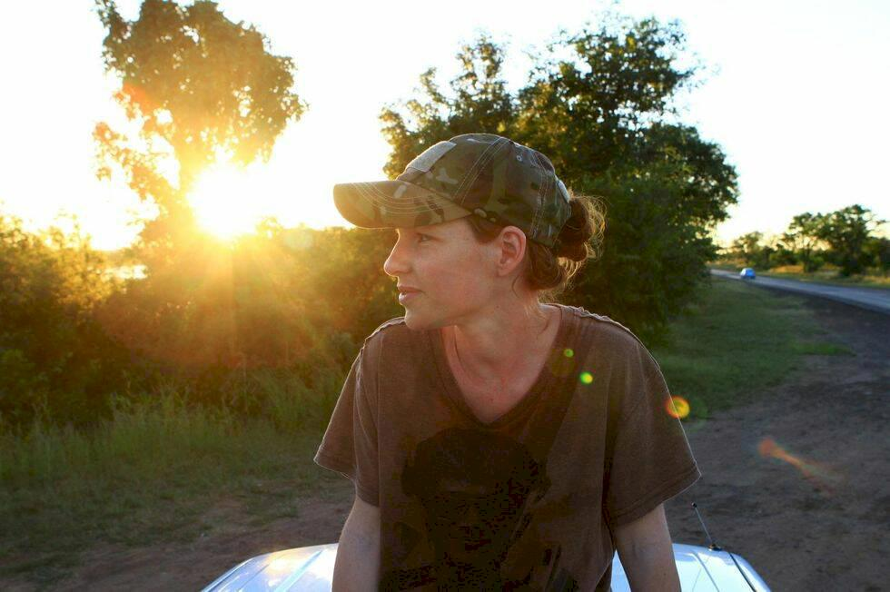 Vid Victoriafallens mynning i Zambia