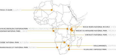 8 nationalparker i Afrika