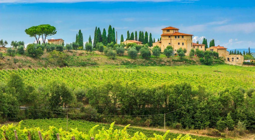 Hus i Italien