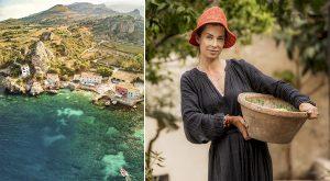 Sicilien och Marie från Husdrömmar på SVT i Italien